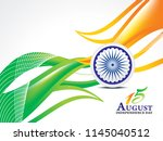 indian independence day... | Shutterstock .eps vector #1145040512