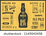 beer. poster or banner with... | Shutterstock . vector #1145043458