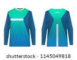 templates of sportswear designs ... | Shutterstock .eps vector #1145049818