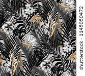 aloha hawaiian shirt seamless... | Shutterstock .eps vector #1145050472
