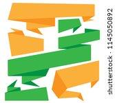 origami sale web banner... | Shutterstock .eps vector #1145050892
