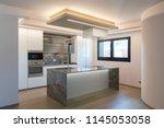interior of modern luxury... | Shutterstock . vector #1145053058