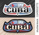 vector logo for cuba country ... | Shutterstock .eps vector #1145053772