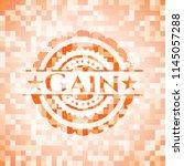 gain abstract orange mosaic... | Shutterstock .eps vector #1145057288