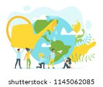 vector flat style concept for... | Shutterstock .eps vector #1145062085