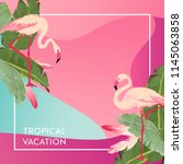 tropical vacation layout with...