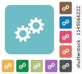 collaboration white flat icons... | Shutterstock .eps vector #1145066222