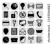 set of 25 business icons.... | Shutterstock .eps vector #1145066882