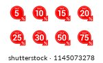 vector tags for sales in... | Shutterstock .eps vector #1145073278