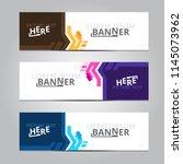 vector abstract design banner... | Shutterstock .eps vector #1145073962