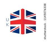stylized english national flag... | Shutterstock .eps vector #1145076338