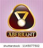 golden emblem or badge with...   Shutterstock .eps vector #1145077502