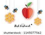 jewish new year  rosh hashanah... | Shutterstock .eps vector #1145077562
