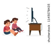 vector illustration happy kids... | Shutterstock .eps vector #1145078435