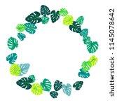 green tropical jungle leaves... | Shutterstock .eps vector #1145078642