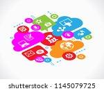 social media concept. ... | Shutterstock .eps vector #1145079725