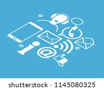 contact background. template... | Shutterstock .eps vector #1145080325