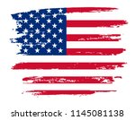 usa flag background.vector... | Shutterstock .eps vector #1145081138