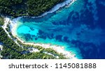 aerial drone photo of tropical... | Shutterstock . vector #1145081888