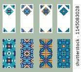vector set of colorful vertical ... | Shutterstock .eps vector #1145083028