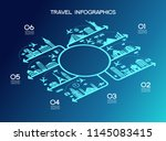 infographics elements  travel... | Shutterstock .eps vector #1145083415