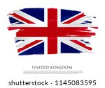 vintage flag of united kingdom... | Shutterstock .eps vector #1145083595