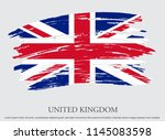 vintage flag of united kingdom... | Shutterstock .eps vector #1145083598