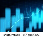 trade stock market. stock... | Shutterstock .eps vector #1145084522