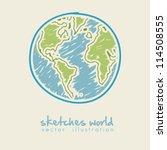 sketch illustration of planet... | Shutterstock .eps vector #114508555