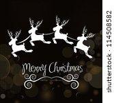 christmas reindeer illustration ... | Shutterstock .eps vector #114508582