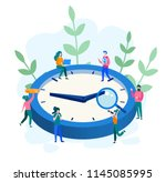 concept time management ... | Shutterstock .eps vector #1145085995