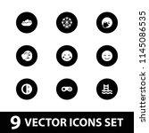 joy icon. collection of 9 joy... | Shutterstock .eps vector #1145086535