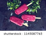 berry ice cream. ice cream from ... | Shutterstock . vector #1145087765