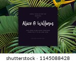 floral wedding invitation with... | Shutterstock .eps vector #1145088428