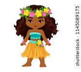 cute cartoon girl in...   Shutterstock .eps vector #1145089175