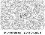 line art vector hand drawn... | Shutterstock .eps vector #1145092835