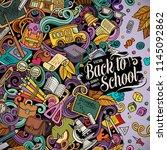 cartoon vector doodles back to... | Shutterstock .eps vector #1145092862