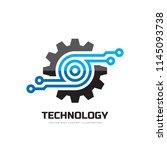 digital tech   vector business...   Shutterstock .eps vector #1145093738