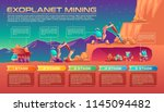 exoplanet mining vector cartoon ... | Shutterstock .eps vector #1145094482