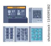 scientific equipment for... | Shutterstock .eps vector #1145095382