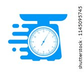 domestic weigh scales icon.... | Shutterstock .eps vector #1145095745