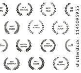 black and white film award... | Shutterstock .eps vector #1145095955