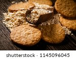 oatmeal cookie  on table | Shutterstock . vector #1145096045
