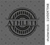 athlete realistic dark emblem   Shutterstock .eps vector #1145097548