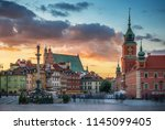 royal castle  ancient... | Shutterstock . vector #1145099405