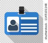 Identification Card Flat Icon...