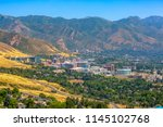 views of mountains and the... | Shutterstock . vector #1145102768