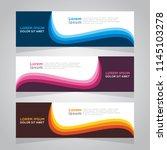 vector abstract design banner... | Shutterstock .eps vector #1145103278