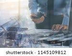 risk management  business... | Shutterstock . vector #1145109812