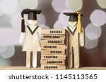 graduation celebrating cap... | Shutterstock . vector #1145113565